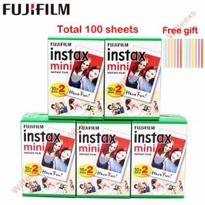 Image 2 - 10 200 sheets Fujifilm instax mini 9 mini11 film white Edge 3 Inch wide film for Instant Camera mini 8 7s 25 50s 90 Photo paper