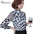 2017 Spring Polka Dot White Blouse & Shirt Women Blouse Top Turtleneck Female Clothing Brand Chiffon Blouse Women Plus Size