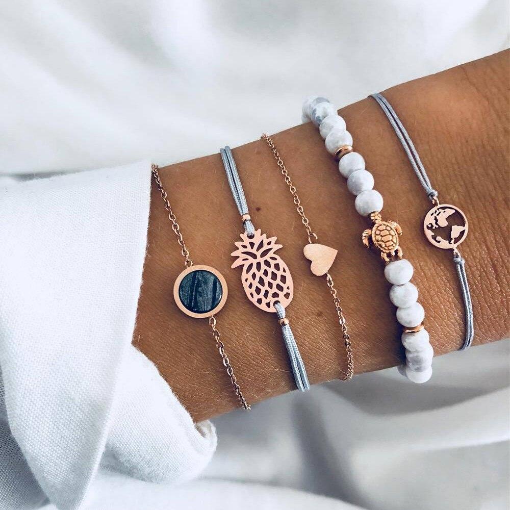 Купить браслеты diezi в богемном стиле с подвесками виде черепахи ананаса