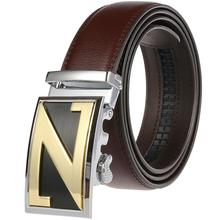 Men Belt Quality Cow Genuine Leather Belts for New Arrival Automatic Buckle Male Strap Metal Cowhide