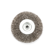 цена на 3 Inch 6mm Arbor Stainless Steel Wire Wheel Brush For Bench Grinder Abrasive Mini Drill Rotary Tools Polishing Dremel Brush