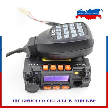 Klasik QYT KT-8900 Mini mobil radyo çift bant 136-174MHz & 400-480MHz 25W yüksek güç alıcı KT8900 araba radyo istasyonu