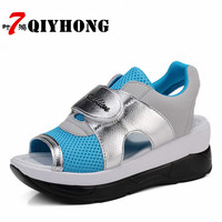 Women S Sandals 2018 Summer New Europe And America High Quality Large Size Mesh Flat Sandals