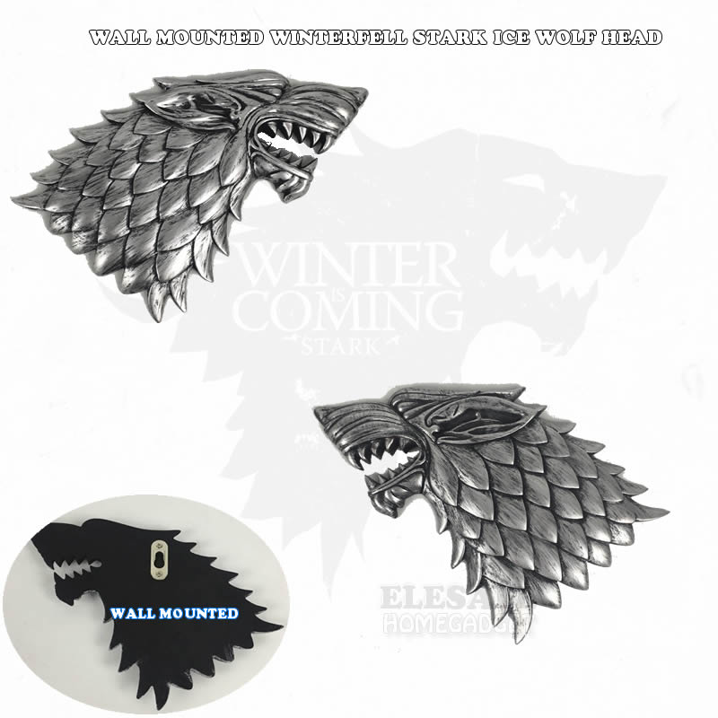 Creative Wall-Mounted Resin Ice Wolf Head Game Of Thrones Winterfell Stark Home Office Party Wall Decoration Gift DropshippingCreative Wall-Mounted Resin Ice Wolf Head Game Of Thrones Winterfell Stark Home Office Party Wall Decoration Gift Dropshipping