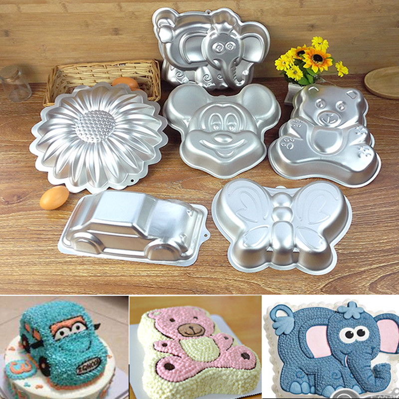 Cartoon cake mold / oven car bear Elephant childrens birthday /DIY baking/