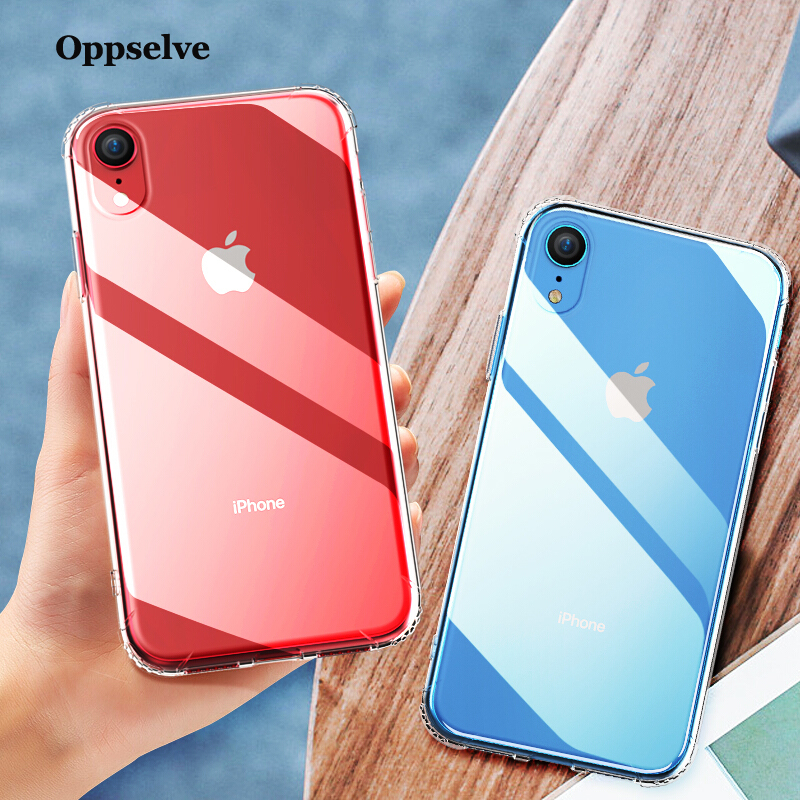 Luxury Phone Case For iPhone Xs Max Xr 8 7 6 S Plus Ultra Thin Transparent Clear Soft Silicone Back Cover For iPhone XS Capinhas in Fitted Cases from Cellphones Telecommunications