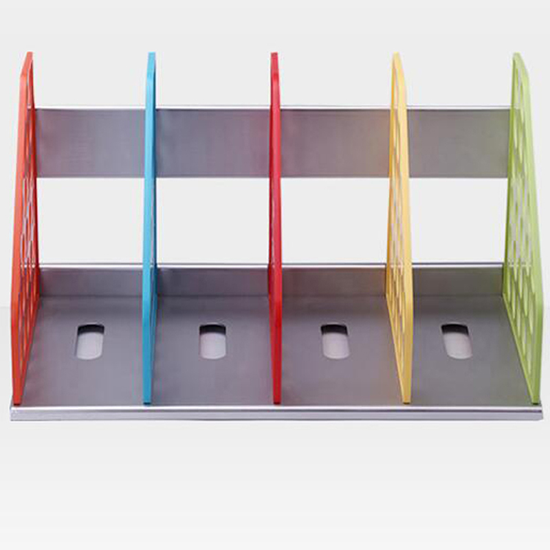 New Diy Plastic Bookend Office File Doent Tray Holder Racks