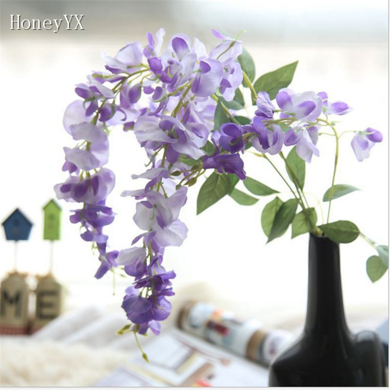 White Purple Flower Vine Hanging Garland Wedding Bouquet Bridal ...
