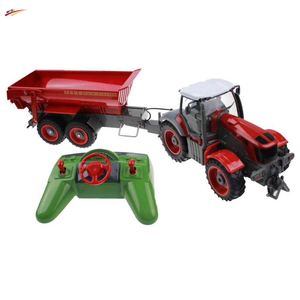 RC Truck 6 Channel 4 Wheel Farm Truck Remote Control Simulation Farm Tractor With Auto Dumper