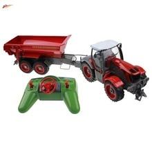Rc грузовик 6 канал 4 колеса фермы грузовик дистанционного управления моделирование сельскохозяйственный трактор с авто самосвал