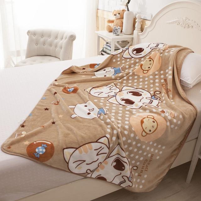Kawaii Katze Cartoon Baby Decke Neugeborene Weiche Fleece Swaddle