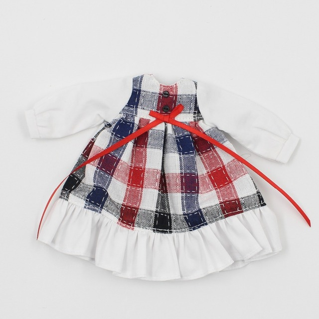 Neo Blythe Doll Gingham Plaid Skirt Dress