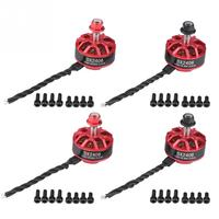 4pcs DX2406 2300KV 2 4S Brushless Motor RC Part Set for QAV250 ZMR250 Racing FPV Drone imported bearing Metal and Magnet RC Part