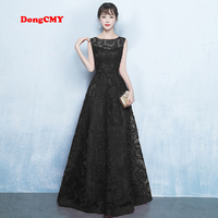 DongCMY New 2018 HomeComing Dresses WT0030 Vestdio Logon Formal Long Party Black Dress