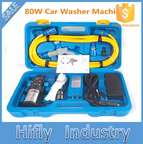 Free Shipping 12V 80W 220V High Pressure Car Washing Portable Washing font b Machine b font