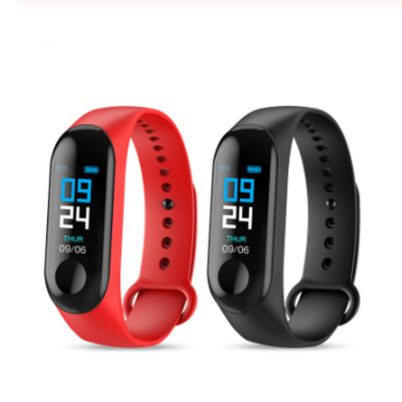 LYKRY M3 Smartband Blood Pressure Fitness Band Tracker Heart Rate Monitor Wristband Bracelet Smartwatch For IOS Android Phone image