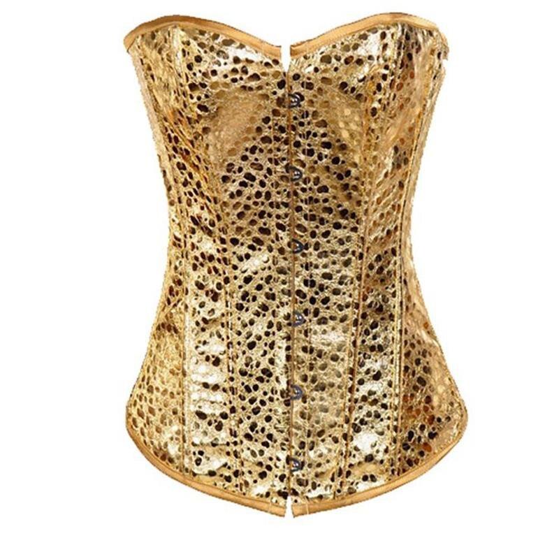 Wholesale Golden Nugget Burlesque Corset Lace Up Boned