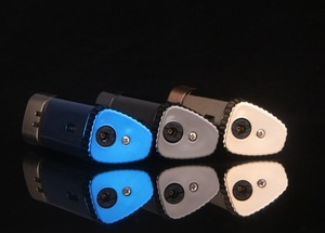 Image 4 - Triple Torch Turbo Lighter Powerful Windproof Metal Jet Cigar Lighter Grinding Wheel 1300 C Butane Lighter Gadgets For Man