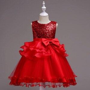 Детское платье принцессы, без рукавов, на возраст 5-8 лет