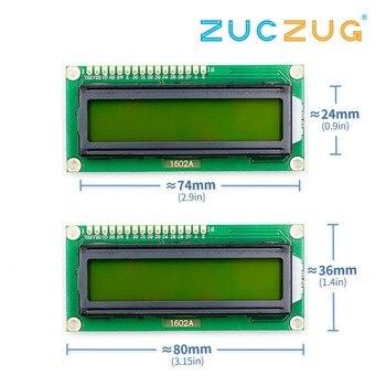 1 шт. LCD1602 1602 Модуль зеленый экран 16x2 си�