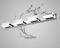 Светодиодные стены Бра, светодиодные Ванная комната зеркало свет лампы с 4 фары, современные Нержавеющаясталь гальваника, AC, лампа в компле