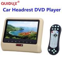QUIDUX 1pcs 9 Inch HD Auto Car Headrest DVD Player Head Rest TFT LCD Screen RCA