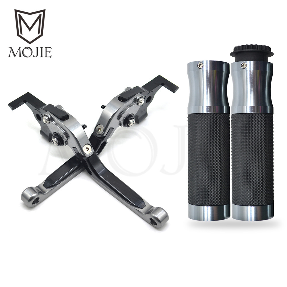 Motorcycle Adjustable Folding Extendable Brake Clutch Levers Handle Bar Hand Grips Set For YAMAHA T-MAX TMAX T MAX 500 530 08-17 все цены