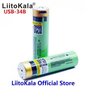 Image 2 - LiitoKala USB 34B 3.7V 18650 3400mAh Li ion USB şarj edilebilir pil LED gösterge ışığı ile DC şarj
