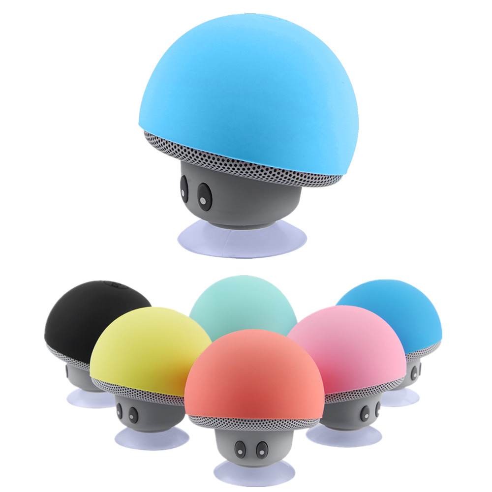 Waterproof Wireless Mini Bluetooth Speaker Stereo Mushroom Portable Bluetooth Speaker With Mic for Mobile font b