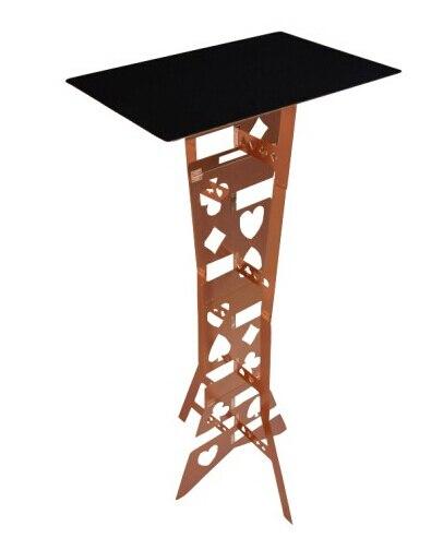 Table pliante magique en alliage d'aluminium, couleur Bronze pour magiciens professionnels tours de magie scène accessoires Magia Illusions
