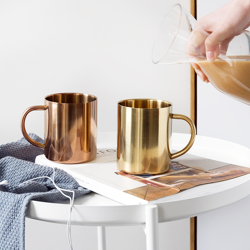 Milk And Coffee Mugs Thickened Double Wall Stainless Steel