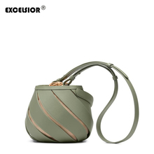 EXCELSIOR Womens Bags New Designer Bucket Bag Female S/S Crossbody Hollow Spiral Shoulder Drawstring Sealing Dropship