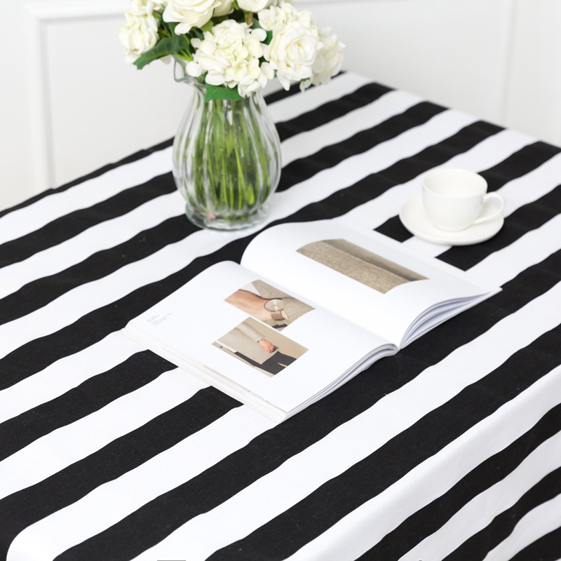 Black White Stripe Handmade Sewing DIY Apparel Fabric Cotton Cloth Sofa  Curtain Tablecloth Pillow Cover