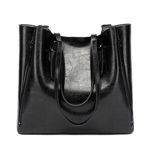 Image 1 - New Fashion Luxury Womens Handbag Women Large Tote Bag Female Bucket Shoulder Bags Lady Leather Messenger Bag Shopping Bag