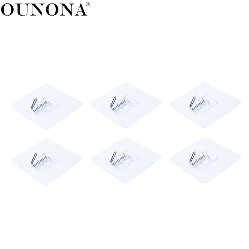 Ounona 6pcs Wall Ceiling Hooks Clover