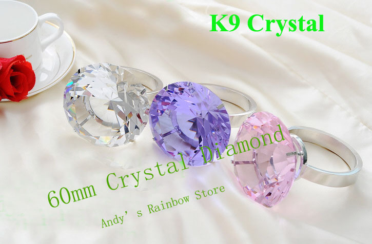 Free shipping,60mm Customize,High quality K9 Crystal diamond Ring For Valentine's Day's Gift, Wedding Gifts