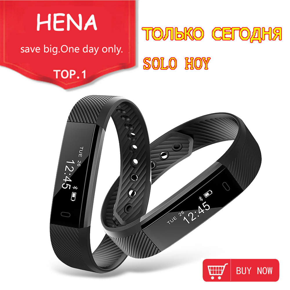HENA IP67 ID115 Smart Bracelet Fitness Tracker Watch Step Counter Smart Wristband Band Sport Sleep Monitor Smart band ID115 HR