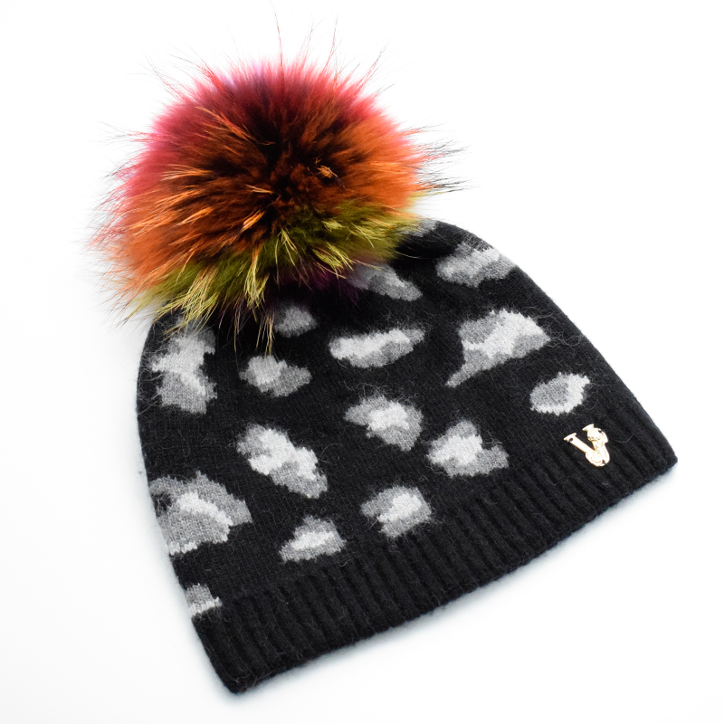 2017 Newest European style winter wool hat for women s Personality leopard grain Beanies hat with