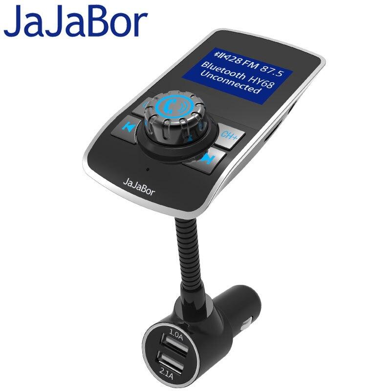 JaJaBor <font><b>Bluetooth</b></font> Автомобильный Комплект Громкой Связи FM Передатчик MP3 Музыкальный Плеер 1.44 Дюймов Большой Экран 5 В 3.1A Двойной Автомобилей USB заряд&#8230;