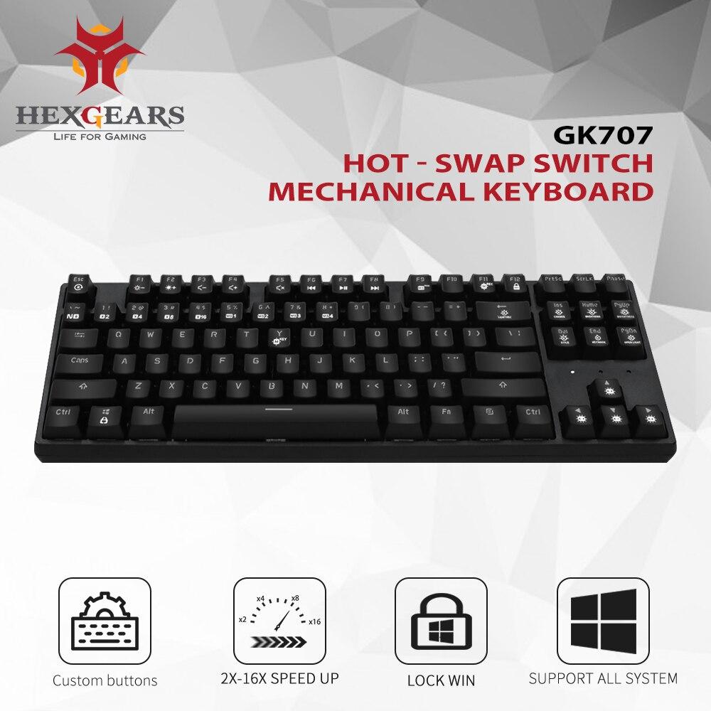 HEXGEARS 87 Clé Remplaçables À Chaud clavier mécanique Étanche Kailh Boîte Commutateur clavier de jeu clavier de gamer avec Rétro-Éclairage - 2