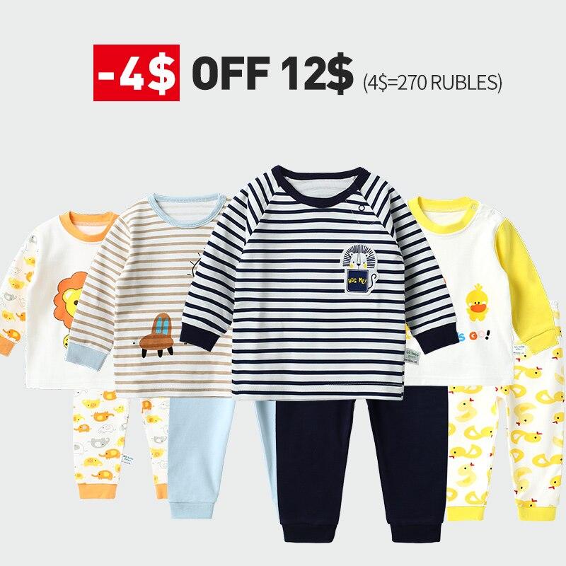 חורף פיג 'מה של ילדי בנות פיג' מה סט כותנה הלבשת ילדי פיג פיג 'מה סט עבור בני תחתוני בגדי חליפות