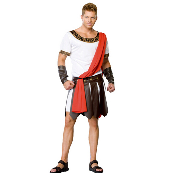 Ancient Roman Warrior Costumes Masquerade Party Men Costume Gladiators Knight Julius Caesar Adult Cosplay Theme Cotume N1190