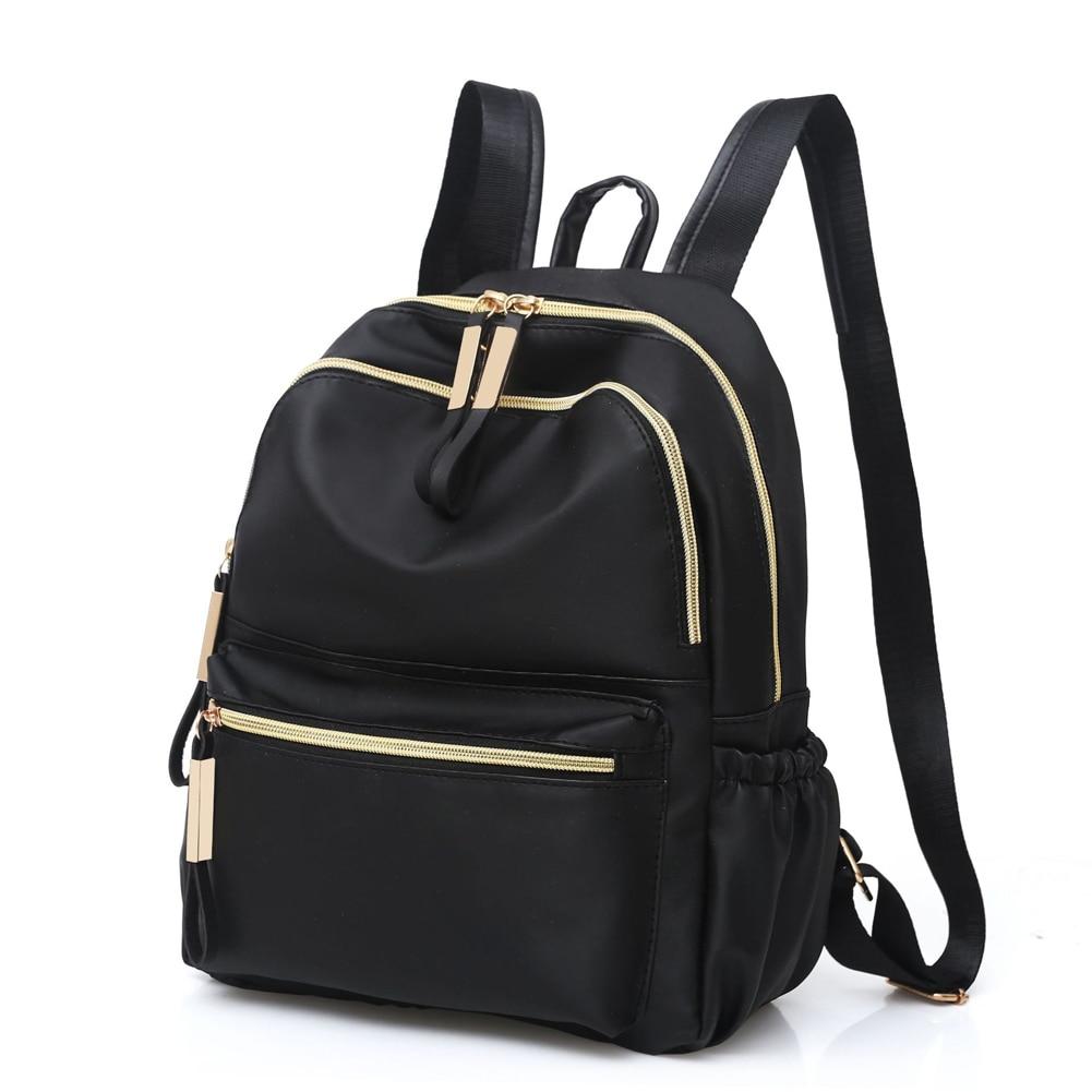 HTB1FaBfa2vsK1RjSspdq6AZepXa3 2019 Casual Oxford Backpack Women Black Waterproof Nylon School Bags for Teenage Girls High Quality Fashion Travel Tote Backpack