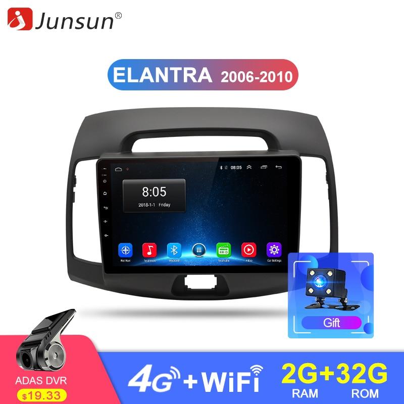 Junsun 2 グラム + 32 グラム Android 8.1 4 グラム車ラジオマルチメディアビデオプレーヤーナビゲーション GPS WiFi 2 din 現代エラントラ HD 2006 2010 no dvd  グループ上の 自動車 &バイク からの 車用マルチメディアプレーヤー の中 1