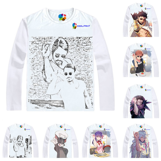 befcc85f91 Camisa Coolprint açougueiro Nusret Gokce Camisetas Multi-Manga Longa estilo  Turco Sal Bae SaltBae Cosplay