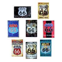 Route 66 photos peinture Plaque métal Style Vintage décor à la maison café Bar plaques décoration Vintage étain signes 20*30 CM