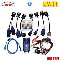 DHL FREE Affordable NEXIQ USB Link NEXIQ Nexiq 2 Bluetooth Software Diesel Truck Interface And Software