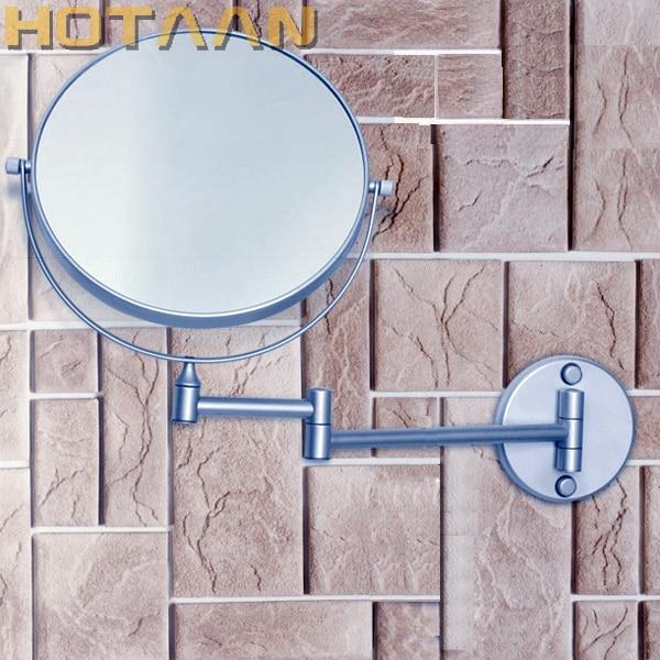 Free Shipping Hot sale wholesale fashionable bathroom in wall Aluminium make up mirror /8