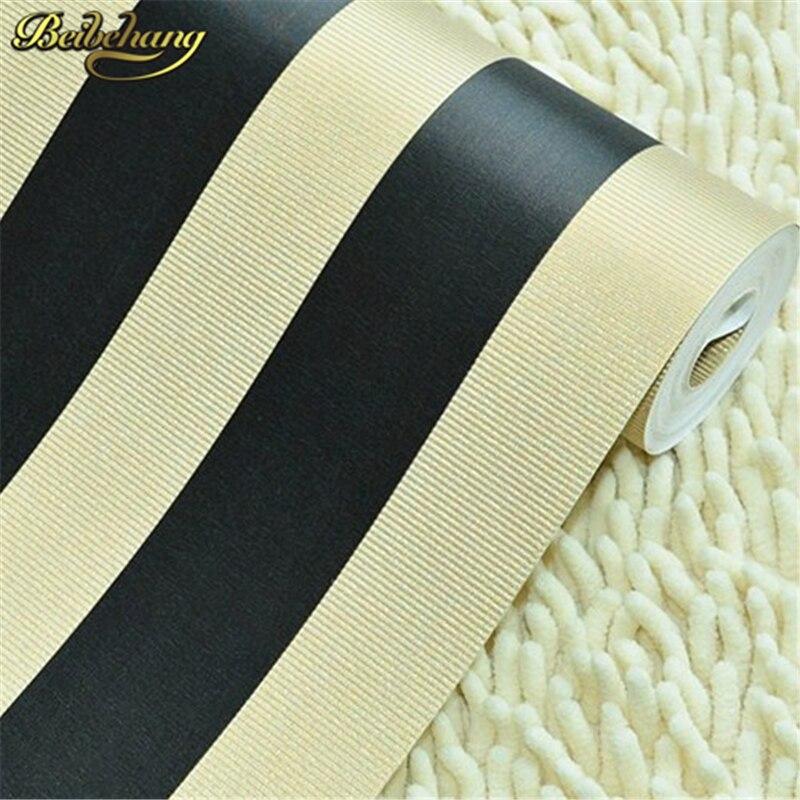 цена на beibehang wall paper modern designer minimalist style Pvc wallpaper black and white striped pattern 3Dwallpaper home decoration