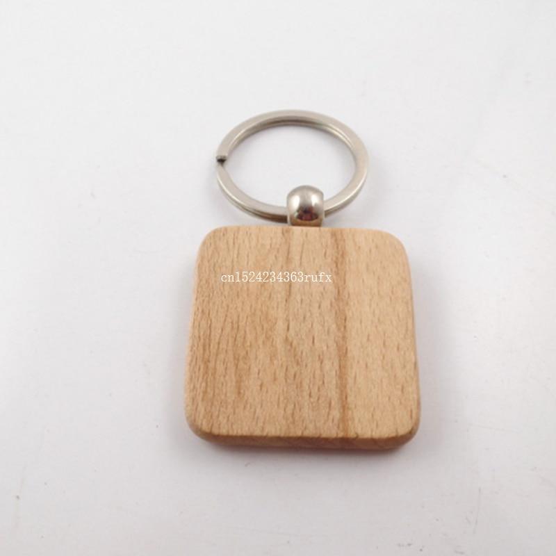 100 ชิ้นที่ว่างเปล่าไม้พวงกุญแจ DIY สำหรับโปรโมชั่นวันเกิดงานแต่งงาน Favor ของขวัญใหม่พวงกุญแจแฟชั่น-ใน ของขวัญงานปาร์ตี้ จาก บ้านและสวน บน   2